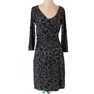🎉 HP 🎉 Ann Taylor animal print wrap style dress